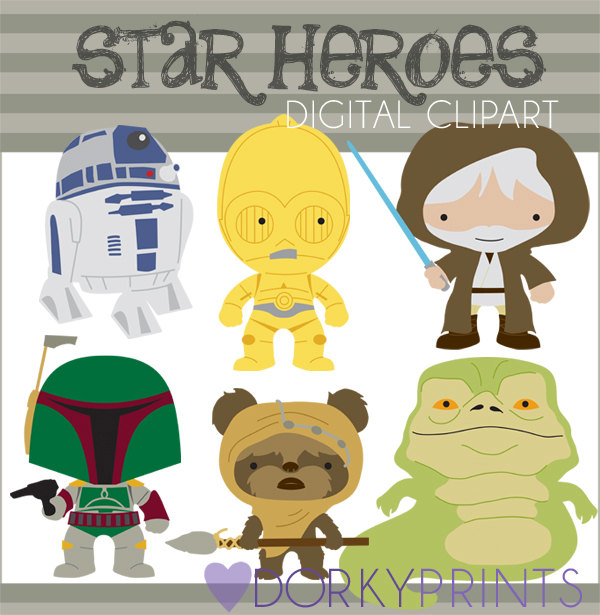 Star Heroes Clipart Set Personal and Limited Commercial.
