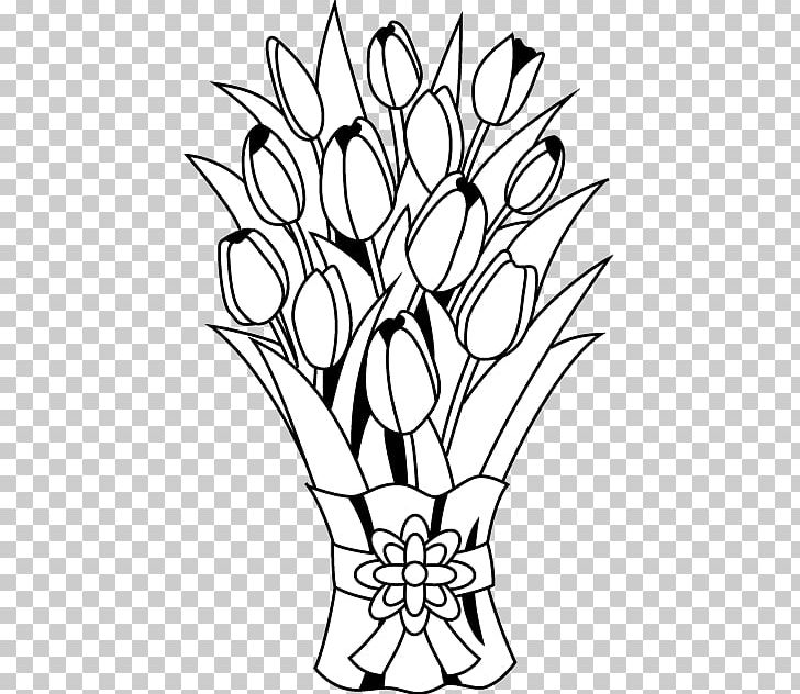 Flower Bouquet Floral Design PNG, Clipart, Black, Black And White.