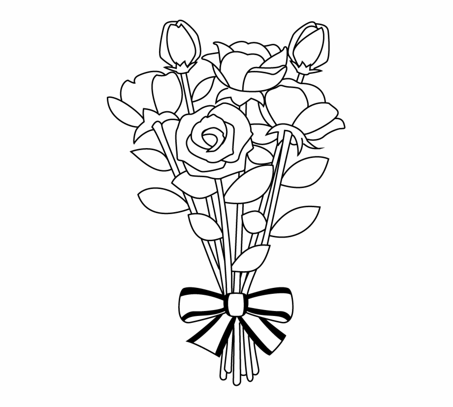 Black And White Flower Bouquet Clipart Black And White.