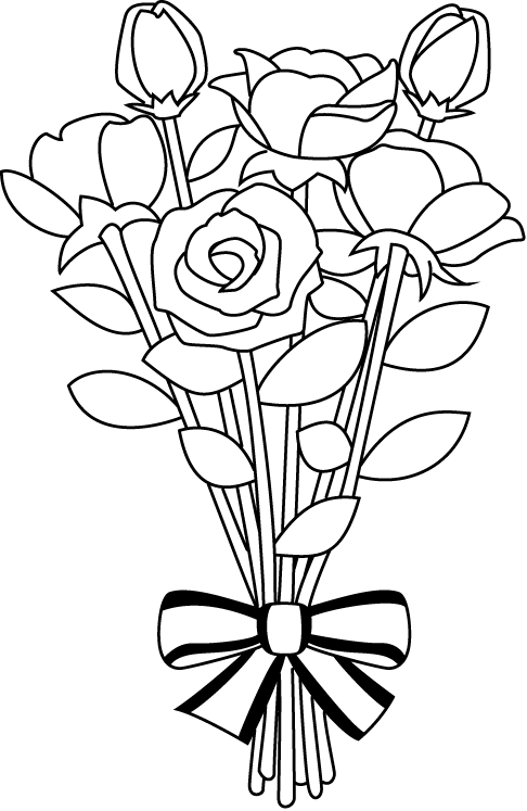 Rose Bouquet Png Black And White & Free Rose Bouquet Black And White.