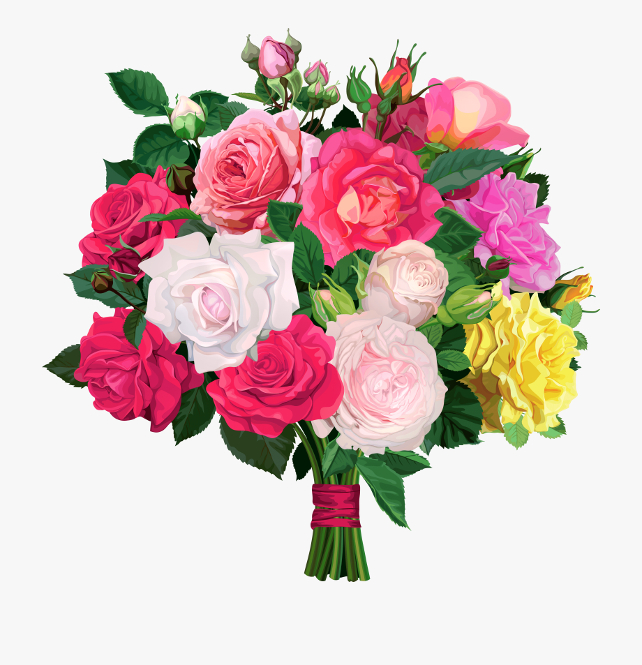 Flower Bouquet Clipart No Background.