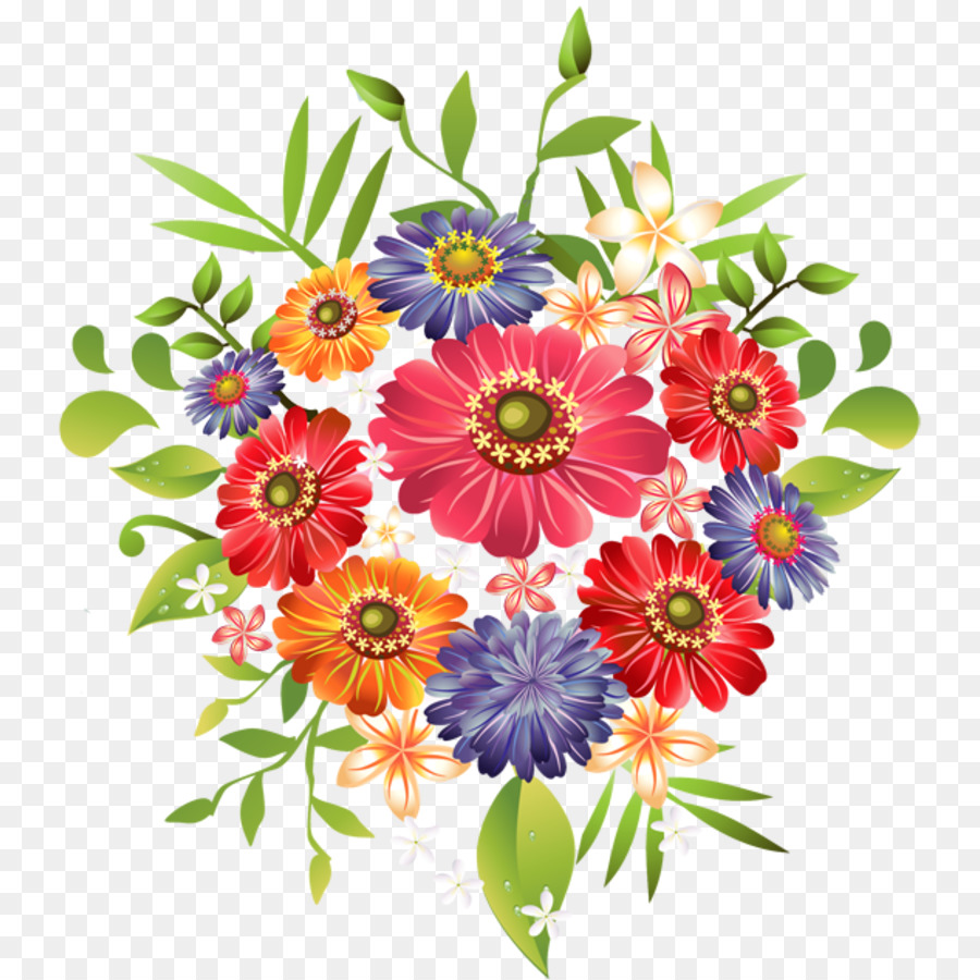 Bouquet Of Flowers Drawing clipart.