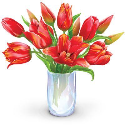 Vase Of Flowers Clip Art.