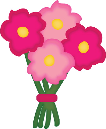 Bouquet Flowers Clipart.