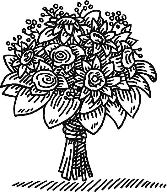 Bouquet Clipart Black And White.