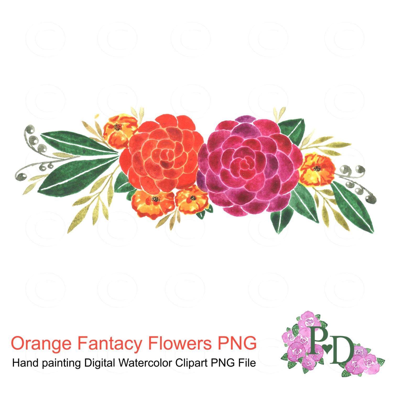 Watercolor Flower Clipart Wedding Floral Clip Art Floral.