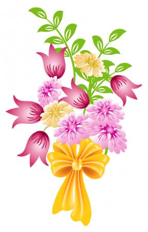 Purple Flower Clipart No Background.