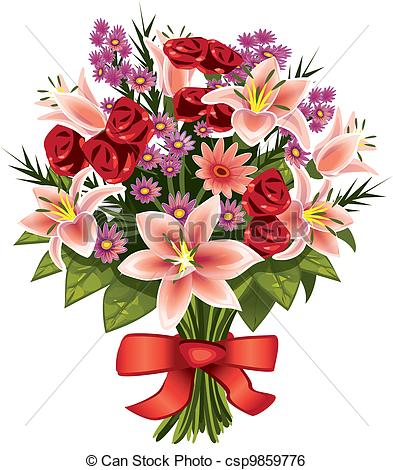 Free Clipart Bouquet Of Flowers.