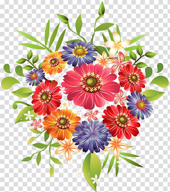 Red and blue flowers illustration, Flower bouquet , Bouquet flowers.