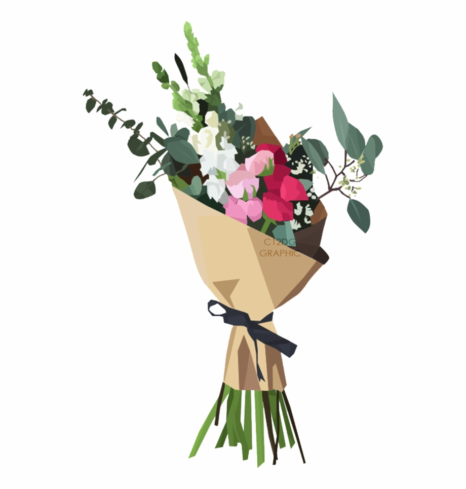 Bouquet Of Flowers Png Image Background.