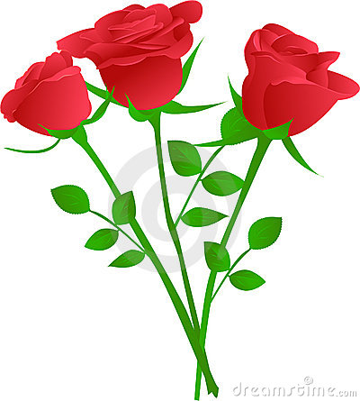 Clipart bouquet of red roses.
