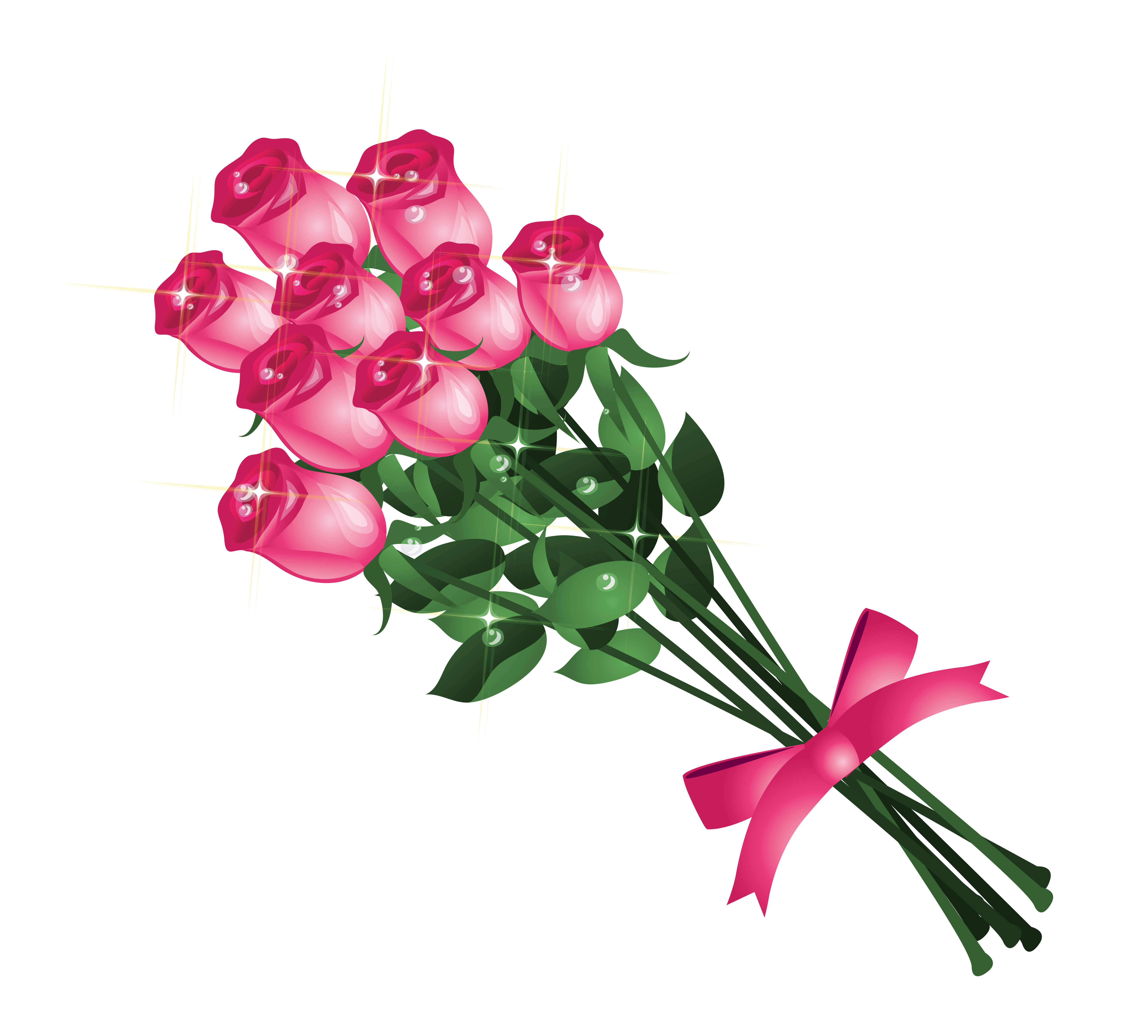 Bouquet of roses clipart - Clipground