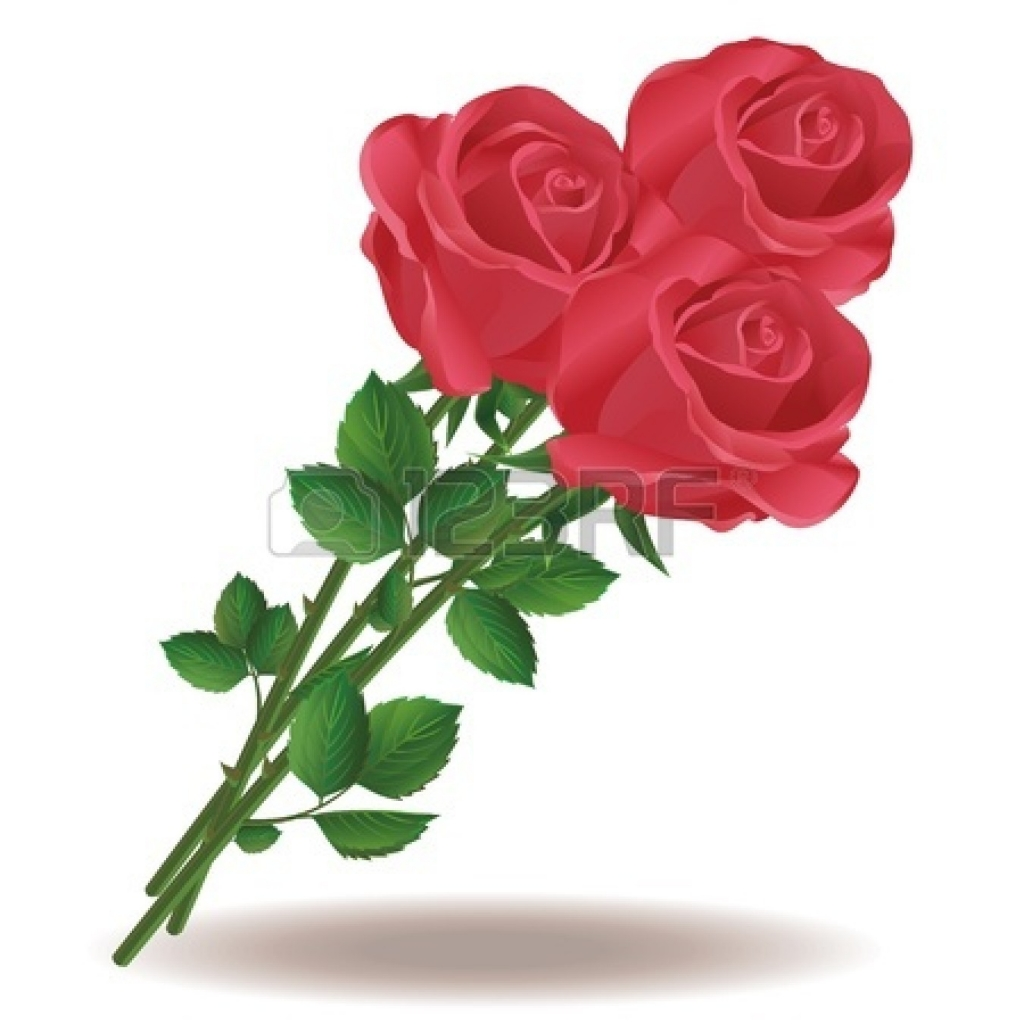 Bouquet Of Roses Clipart.