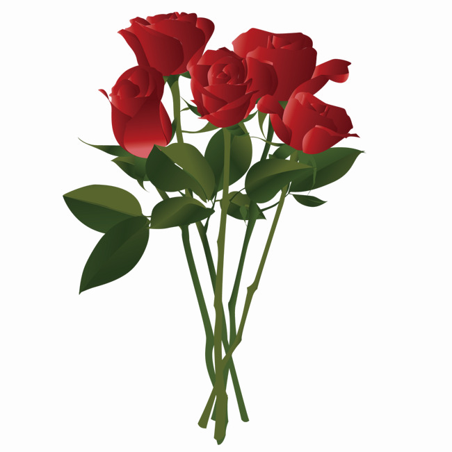 HD Bouquet Of Rose Flowers Png Pic.