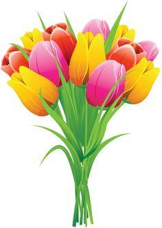 Spring Flower Bouquet Clipart.