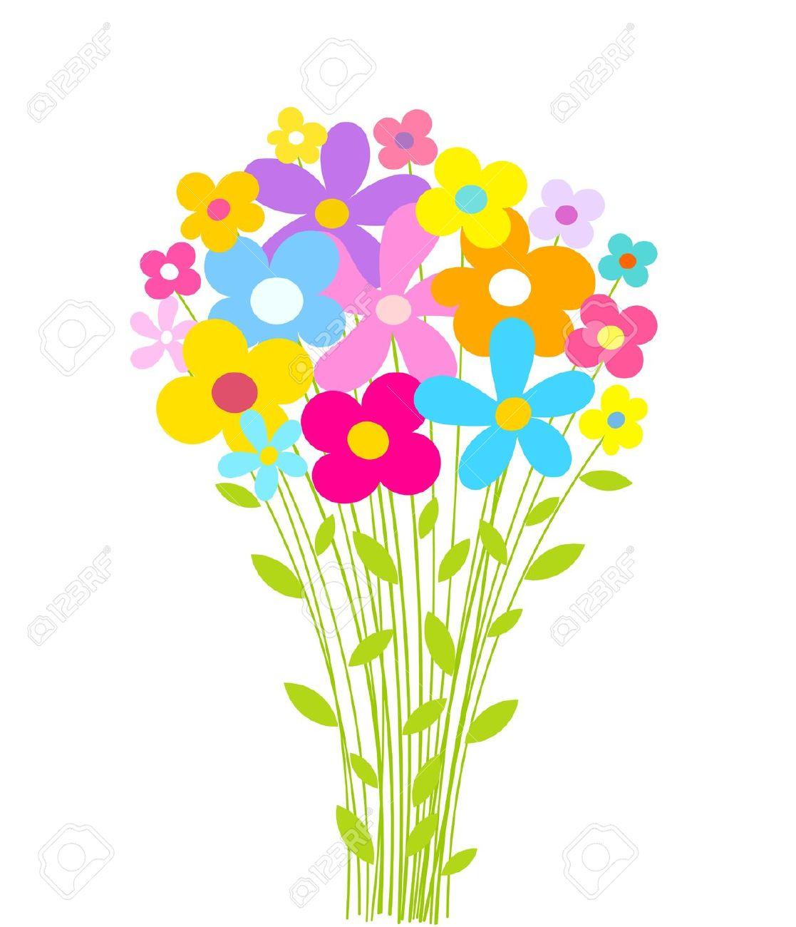 Bouquet clipart spring flower bouquet, Bouquet spring flower.
