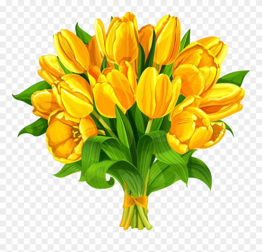 Tulip Flower Bouquet Yellow.