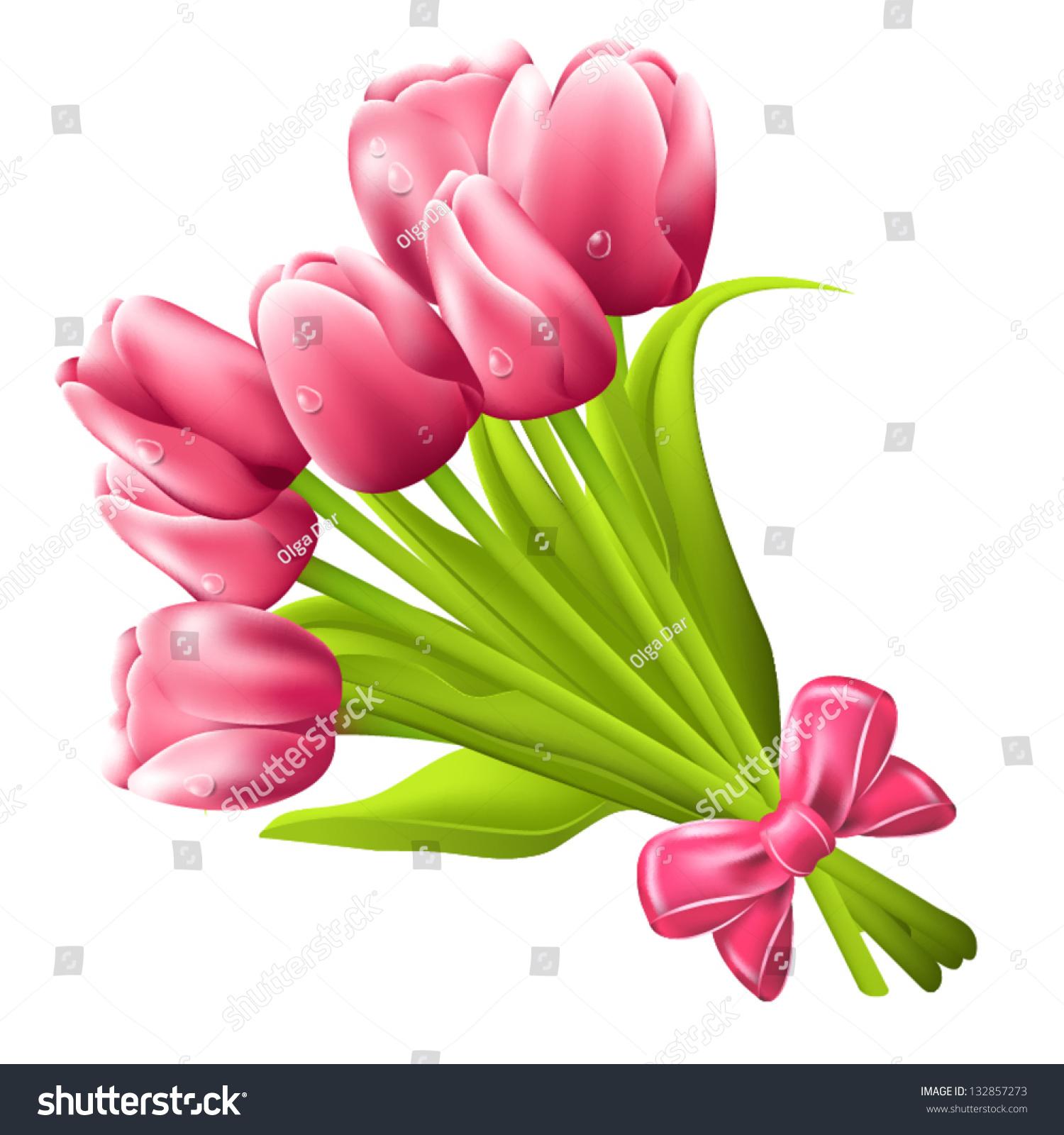 Tulip bouquet clipart 5 » Clipart Station.