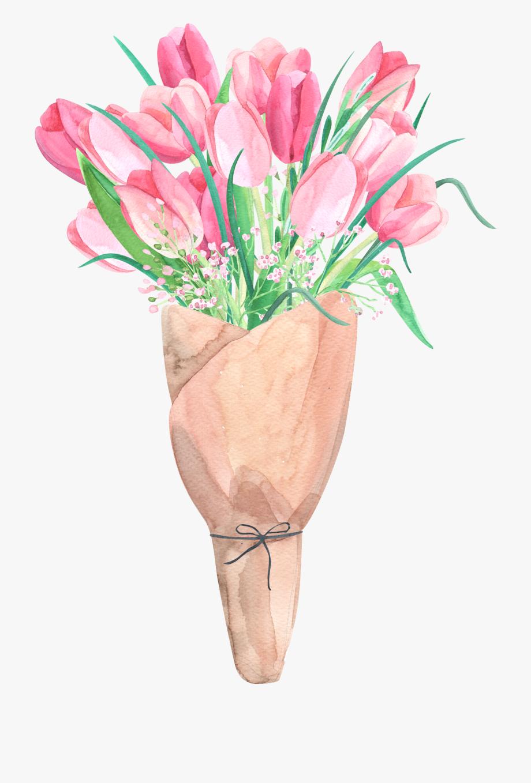 Tulip Flower Bouquet Clip Art.