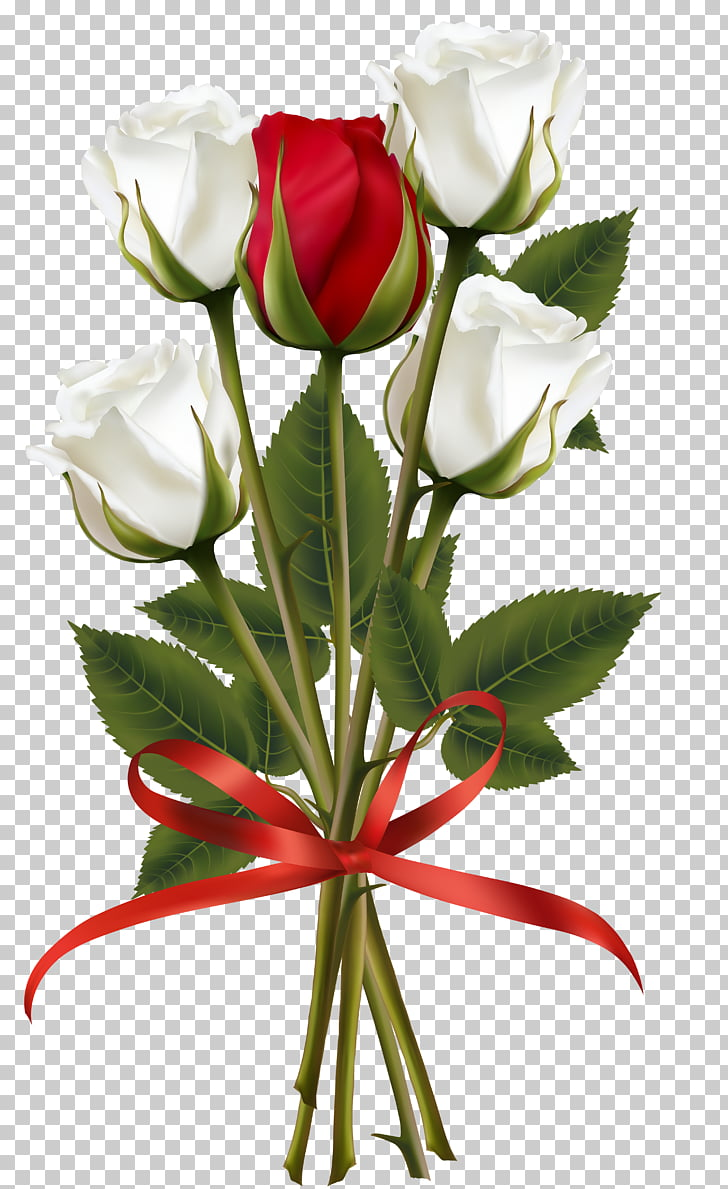 Flower bouquet Rose , white roses PNG clipart.