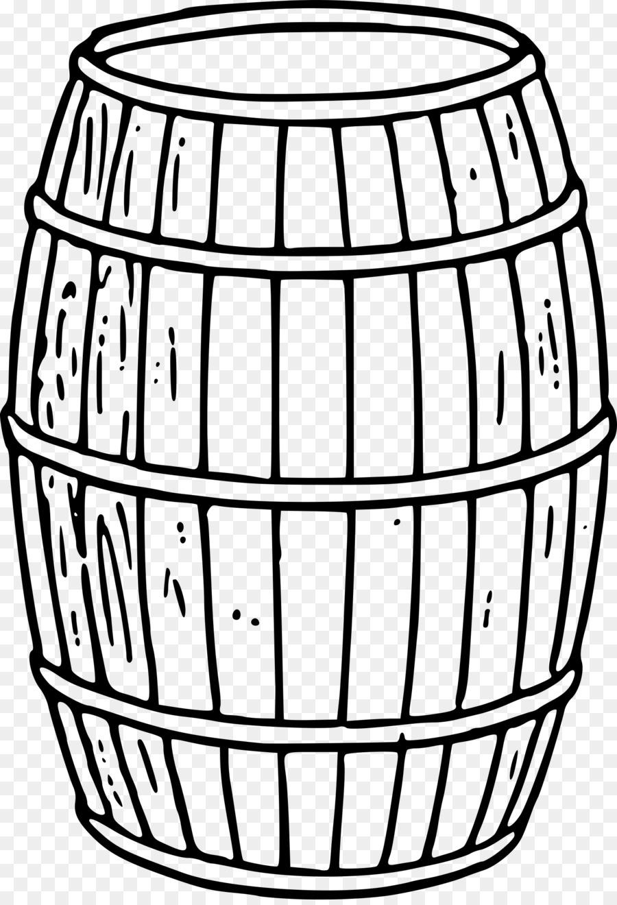 Barrel Line Art png download.