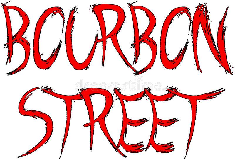 Bourbon Street Stock Illustrations.