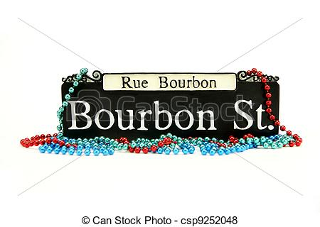 Bourbon street sign clip art.