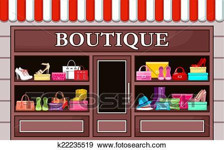 Fashion boutique. vector illustration Clip Art.