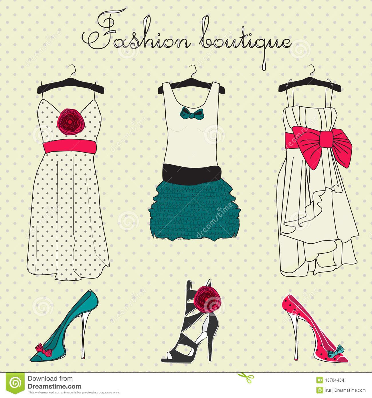 Boutique Stock Illustrations.