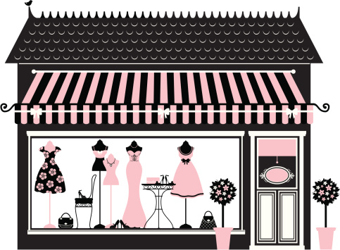 Boutique illustrations and clipart.