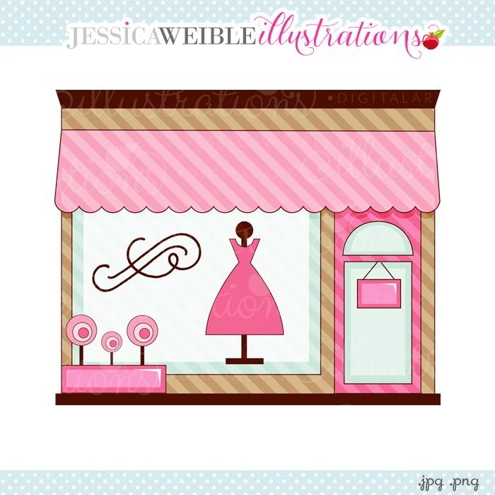 Free boutique clipart graphics.