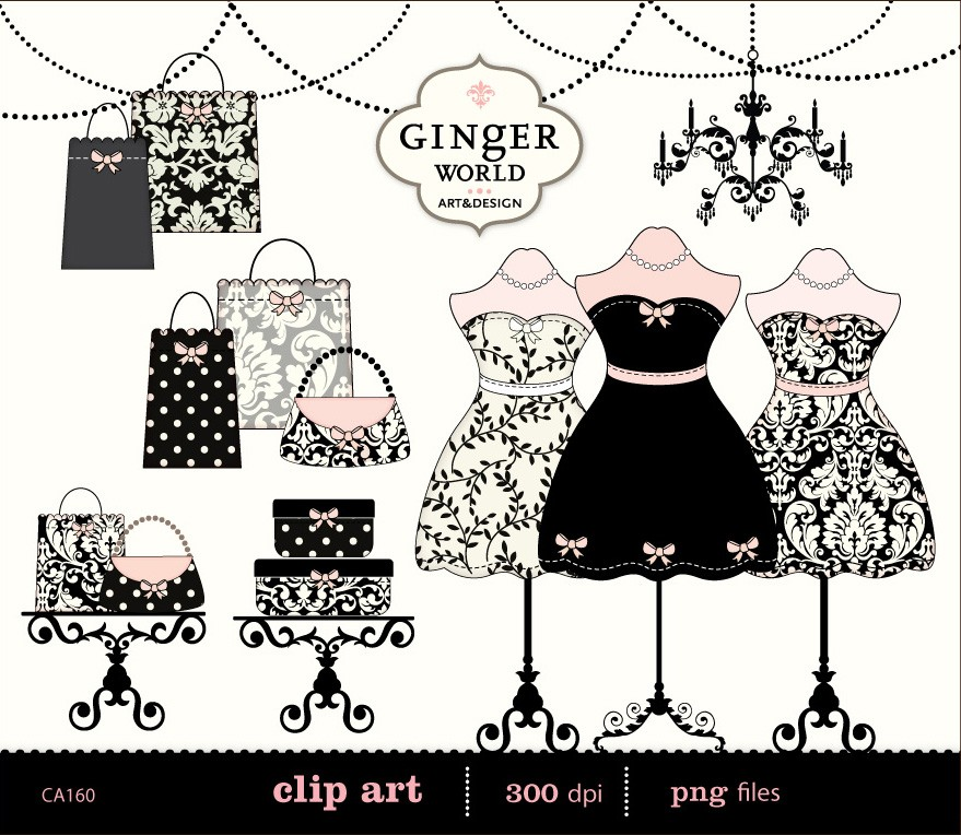 Fashion Boutique Clipart.