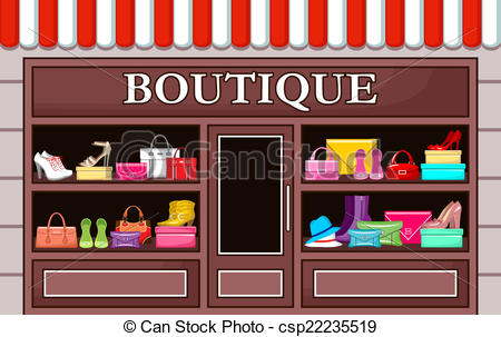 Fashion boutique. vector illustration.