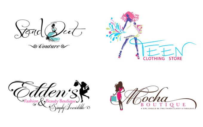 design modern clothing or fashion boutique brand logo.