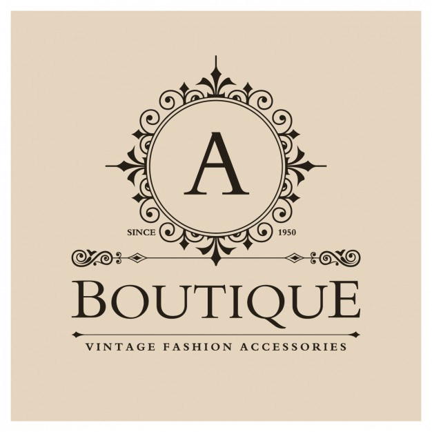 Vintage boutique logo Vector.
