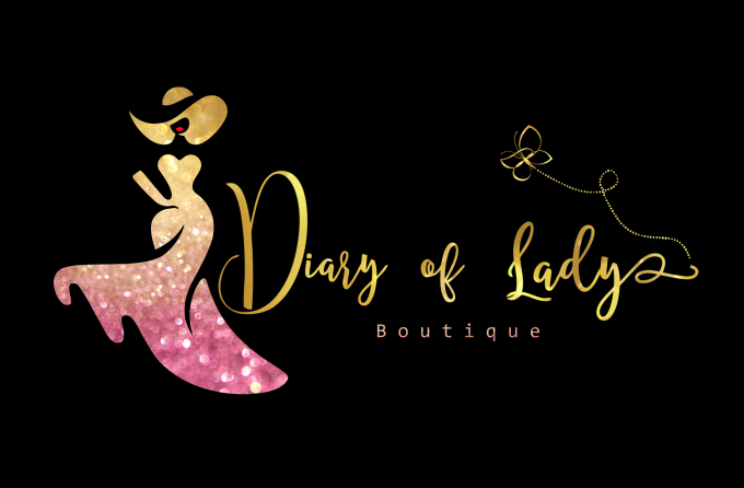 design fashion boutique and glitter logo.