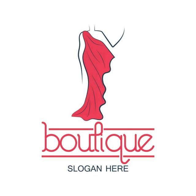Boutique Logo With Text Space For Your Slogan Vector Illustration.