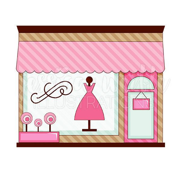 Boutique Shop Clipart.