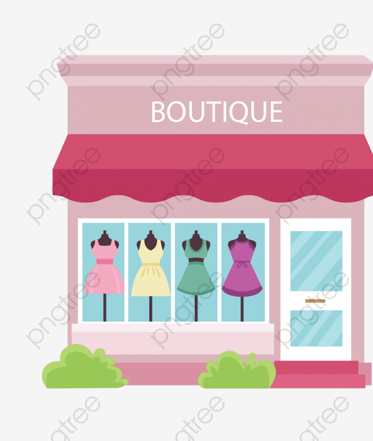 Boutique, Ladies Clothes Shops, Vector Houses PNG and Vector with.
