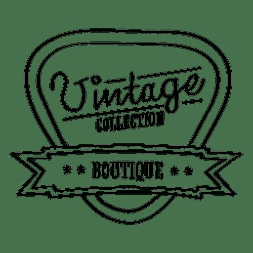 Vintage boutique collection seal.