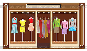 Boutique. Women`s clothing shop.