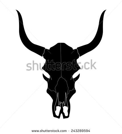 Skull Silhouette Stock Images, Royalty.