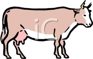 Colorful Cartoon of a Bovine.