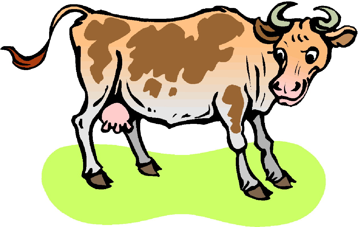 Cows Cow Bull Bulls Cattle Bovine Cartoon Animal Round Sticker.