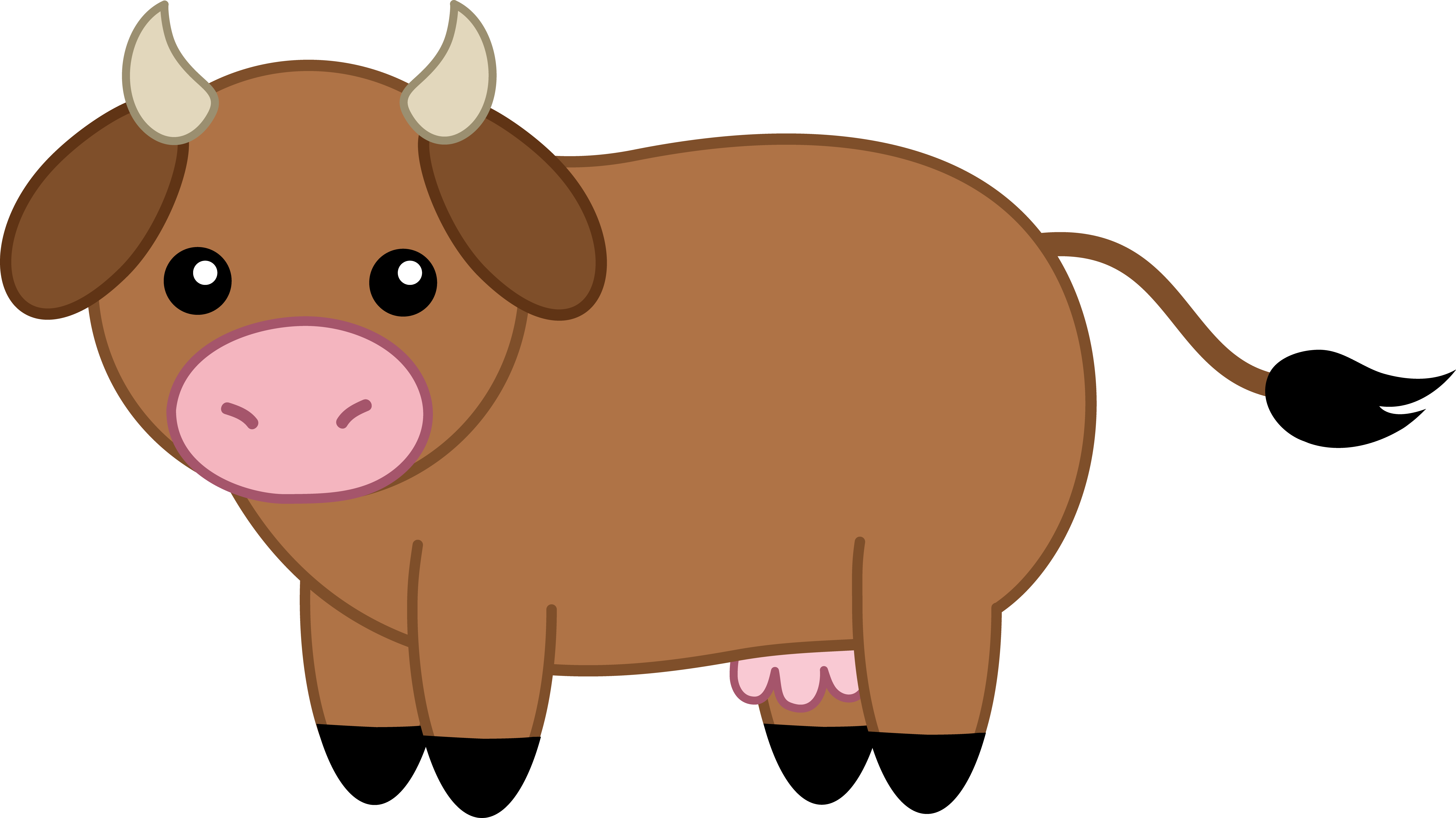 Cute Brown Cow.