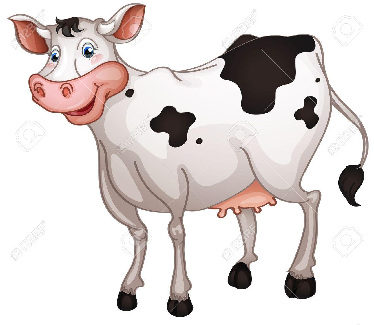 Illustrazione Di Mucca In Uno Sfondo Bianco Clipart Royalty.