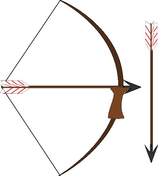 Public bow and arrow clipart.