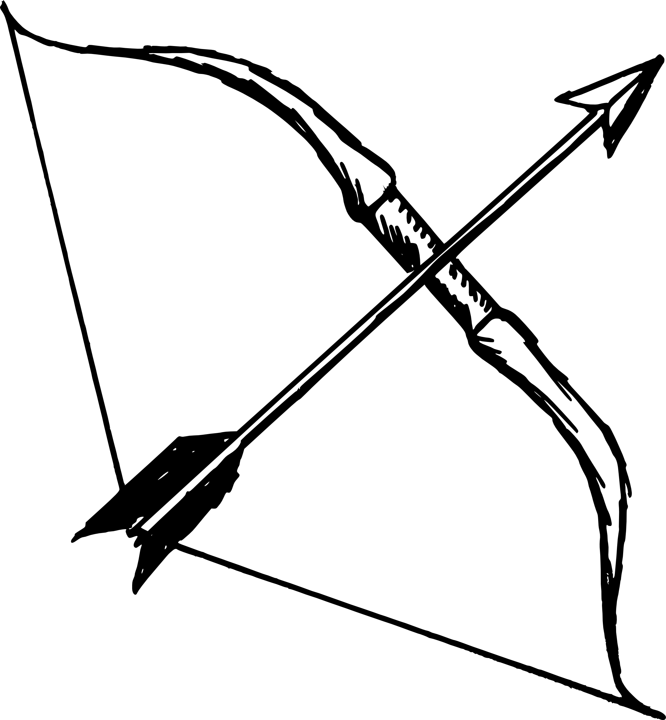 5 Bow and Arrow (PNG Transparent).