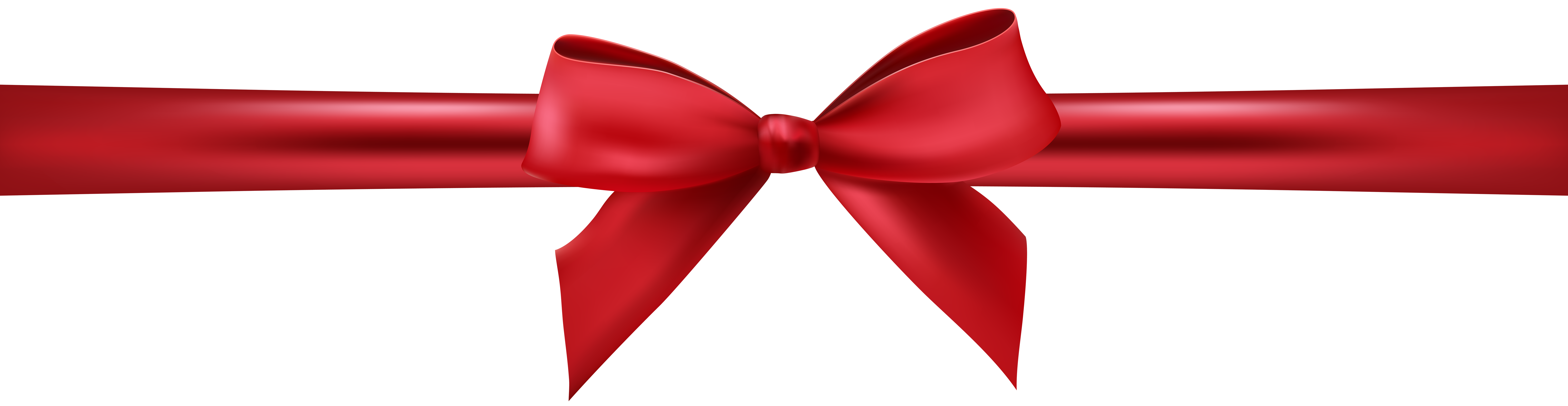 Red Bow with Ribbon PNG Clip Art Image.