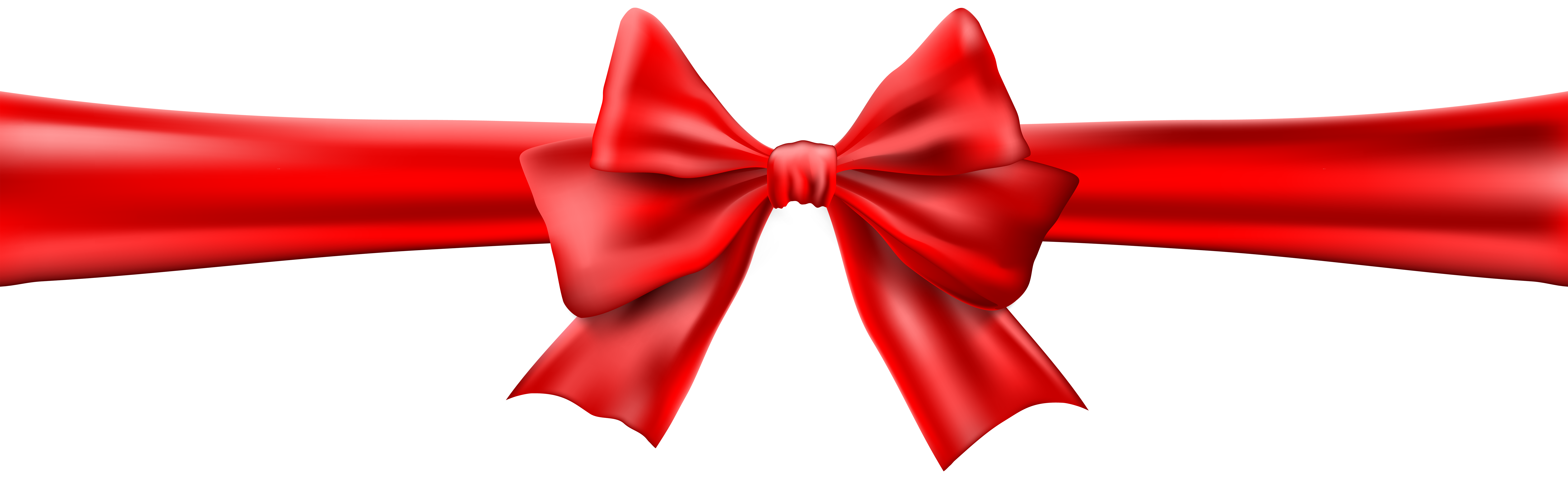 Red Bow with Ribbon Clip Art Image.